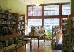 Inside a bookstore