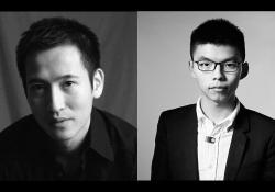 A photograph of Jason Ng juxtaposed with a photograph of Peter Wong