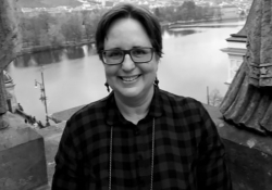 A black and white photograph of Ottilie Muzlet