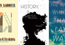 The covers to three books highlighted in the post (Jacob's Ladder, History: A Mess, and The Wind that Lays Waste)