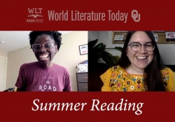 """A screen capture from the second episode of WLT Book Buzz - The text reads """"Summer Reading"""""""