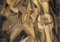 Marcel Duchamp, Nude Descending a Staircase (1912), oil on canvas, 147 × 89.2 cm, Philadelphia Museum of Art / The Louise and Walter Arensberg Collection, 1950