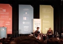 Chimamanda Ngozi Adichie and Ta-Neihisi Coates in conversation at AWP / Photo: Alexandra Goodman