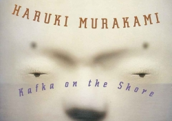 A detail from the book cover to Haruki Murakami's Kafka on the Shore