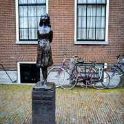 Statue of Anne Frank