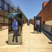 Walkway outside the Apartheid Museum in South Africa.