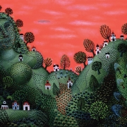 Tamas Galambos, Summer, 1981, oil on canvas. A detail from Galambos's painting also appears on the cover of García Marquez's One Hundred Years of Solitude reprinted by Penguin London in 2000.