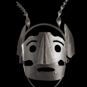 Made of iron, this scold's bridle from Belgium dates from the 16th or 17th century. The strut of metal that went into the wearer's mouth to hold down her tongue has broken off.