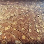 An aerial view of hydraulic fracturing in progress at Jonah Field in Wyoming. Photo: Bruce Gordon / Ecoflight