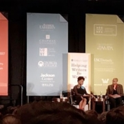 Chimamanda Ngozi Adichie and Ta-Neihisi Coates in conversation at AWP / Photo: Alexandra Goodman