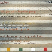 "Eybers's poem ""Taalles"" (Language Lesson) on the wall of the Anne Frank School in Leiden / Source: Wikimedia"